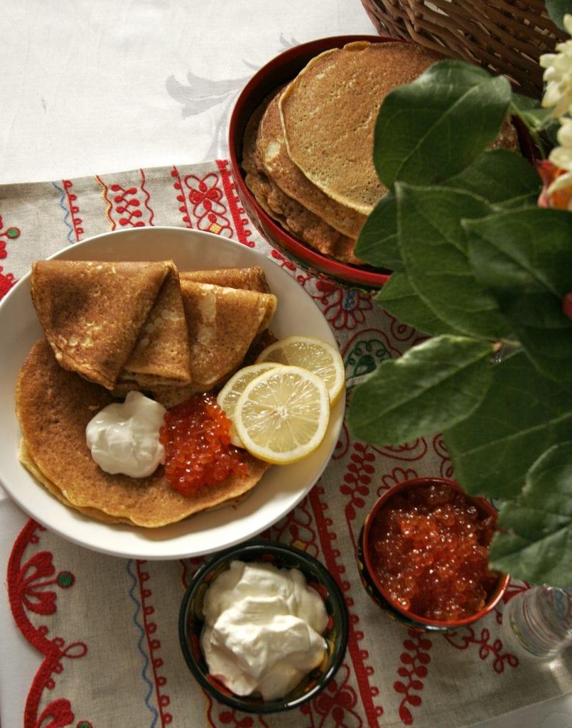 Shrovetide, Maslenitsa, blini, russian pancakes
