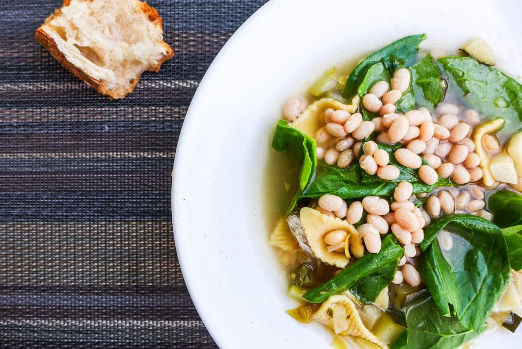 White Bean, spinach, chicken soup