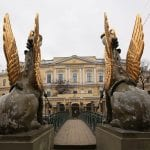 Gryphons on the Bank Bridge in St. Peterburg