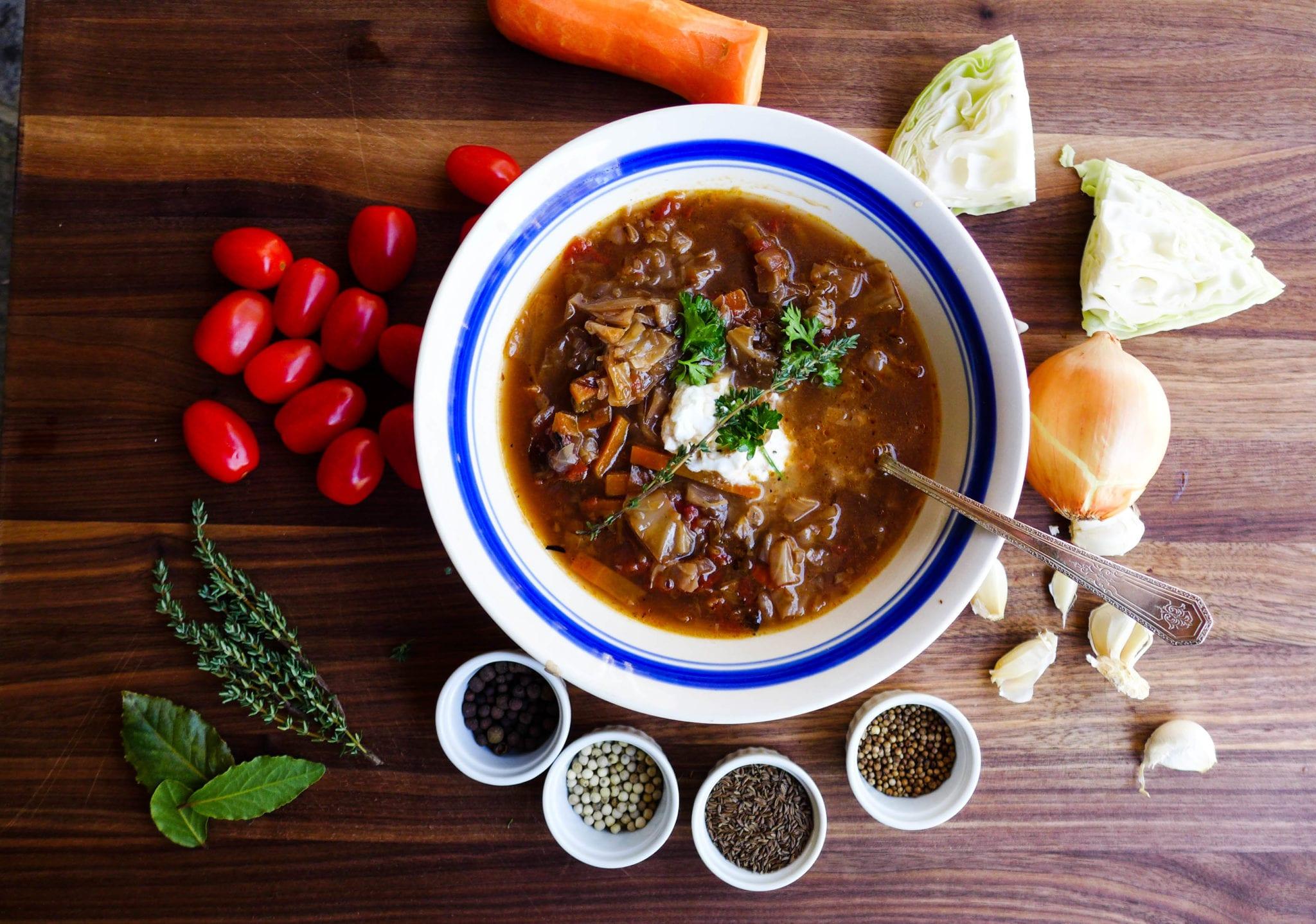Cabbage Soup schi Russian soup