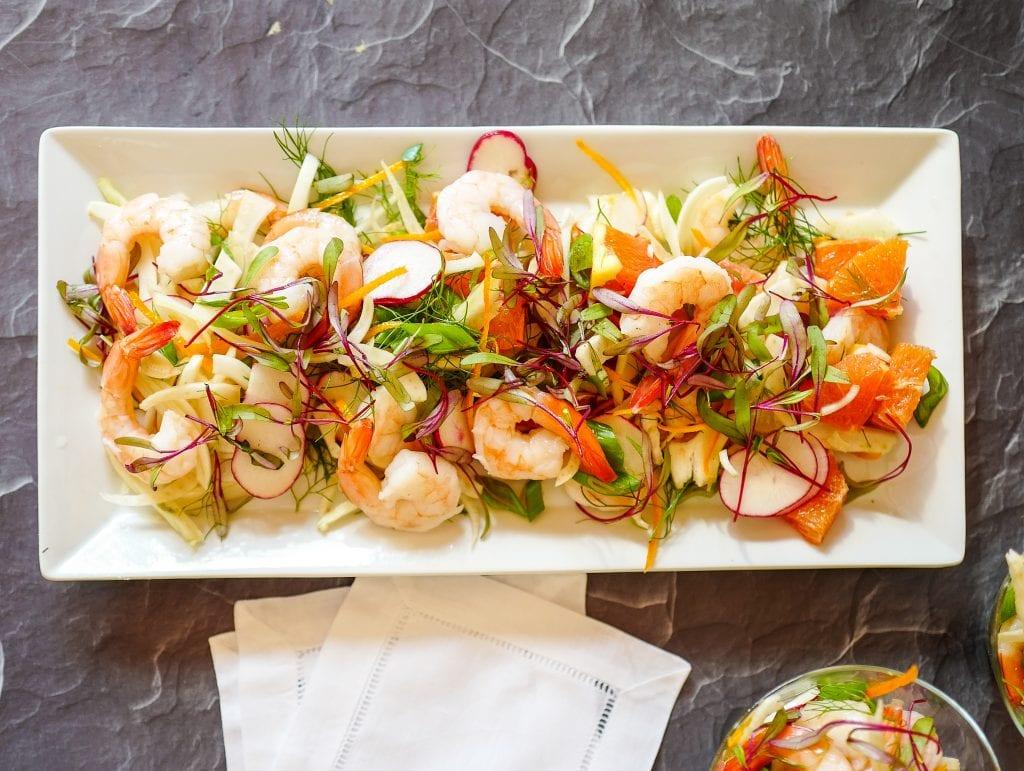 Jennifer Eremeeva makes Shrimp, Fennel, and Orange Salad