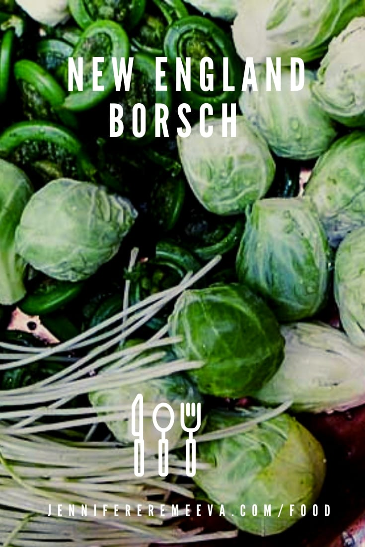 Food Blogger Jennifer Eremeeva makes New England Borsch