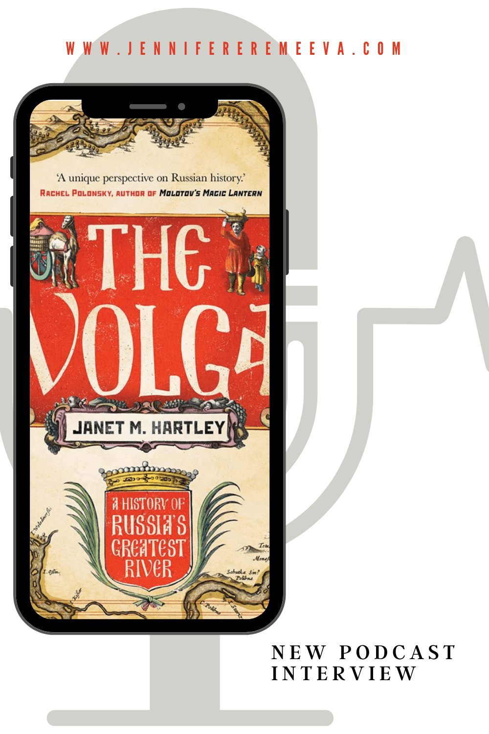 Pinterest pin about Janet Hartley's The Volga