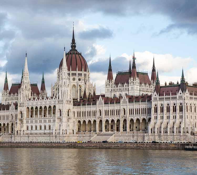 Budapest Parliament Danube facade